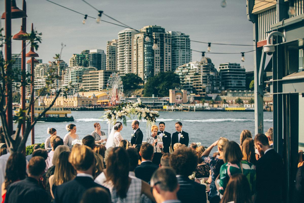 Pier One wedding ceremony